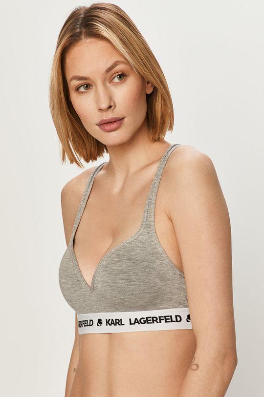 jasny szary Karl Lagerfeld - Biustonosz sportowy Damski