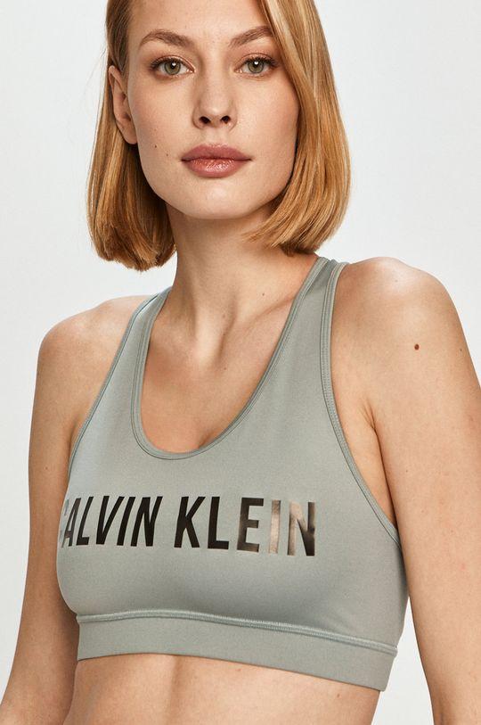 brudny zielony Calvin Klein Performance - Biustonosz sportowy