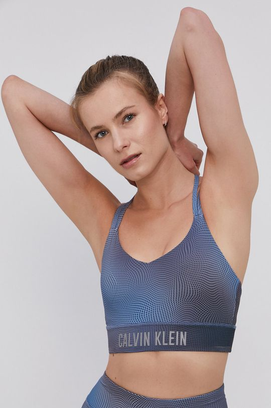 ocelová modrá Calvin Klein Performance - Sportovní podprsenka Dámský