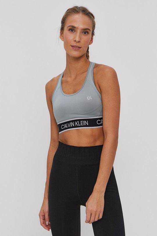 Calvin Klein Performance - Biustonosz sportowy niebieski