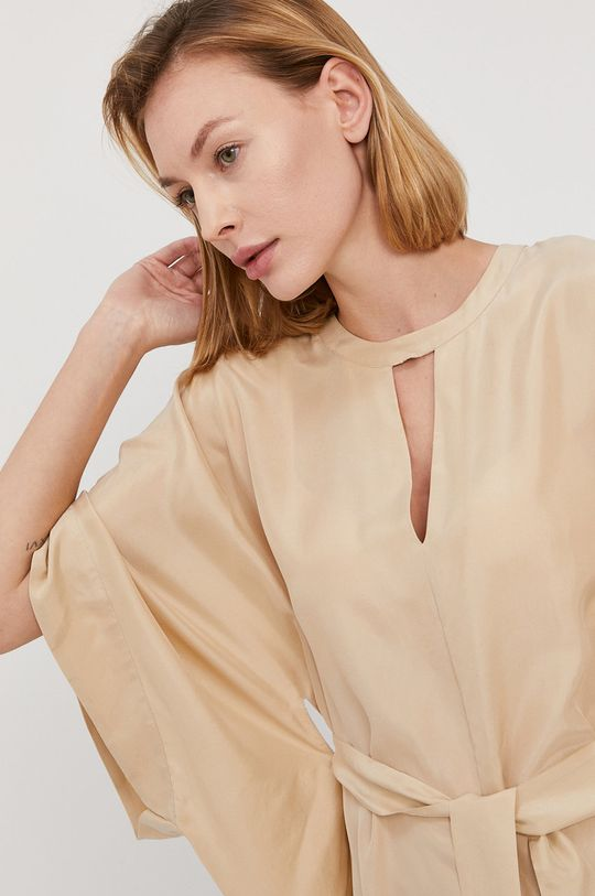 Twinset - Sukienka plażowa 100 % Jedwab