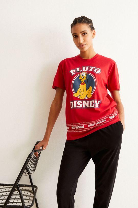 červená Undiz - Pyžamové tričko PLUTOIZ Dámský