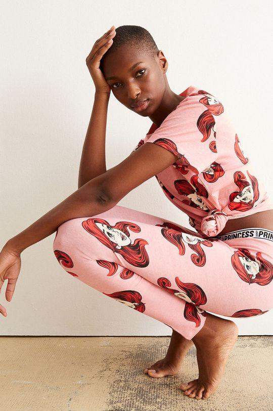 Undiz - T-shirt piżamowy ALLARIELIZ różowy