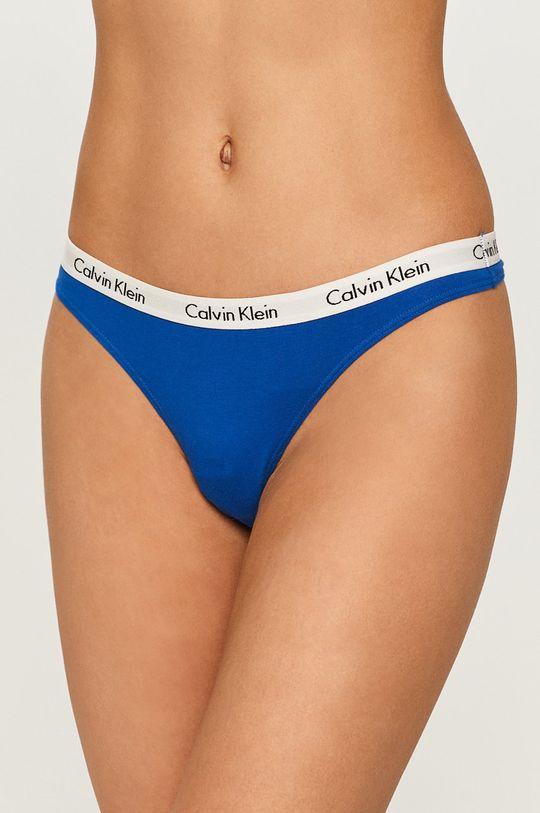 niebieski Calvin Klein Underwear - Stringi Damski