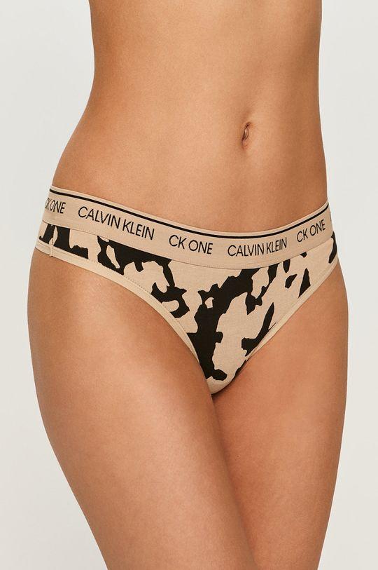beżowy Calvin Klein Underwear - Stringi CK One Damski