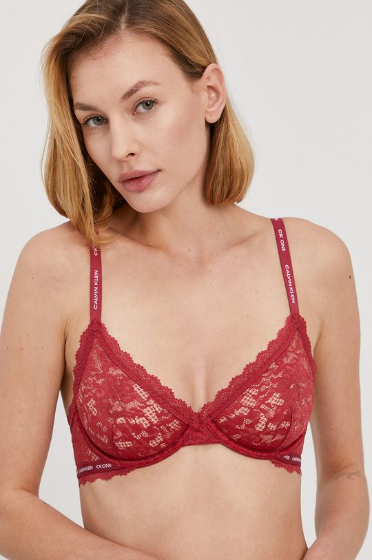 kasztanowy Calvin Klein Underwear - Biustonosz CK One Damski