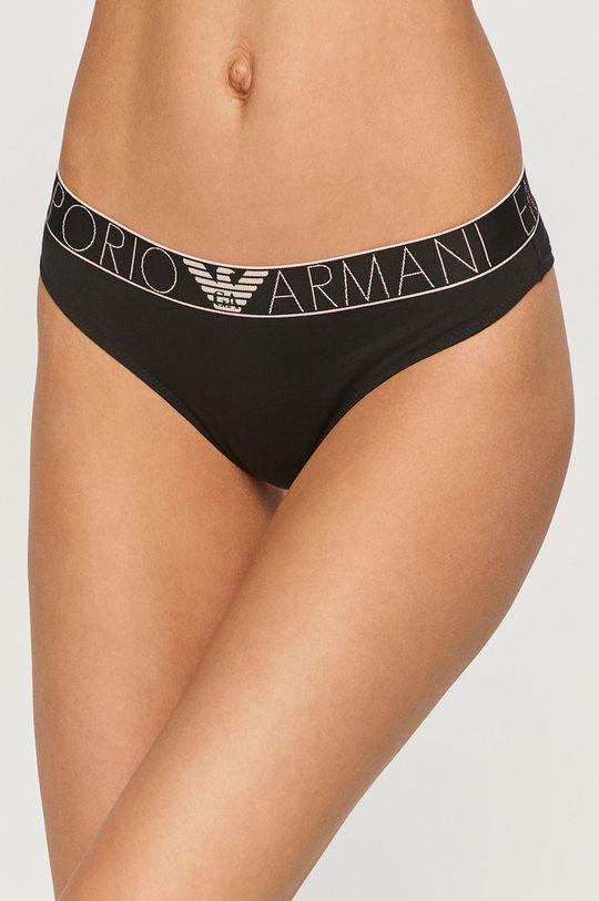 černá Emporio Armani - Kalhotky brazilky Dámský