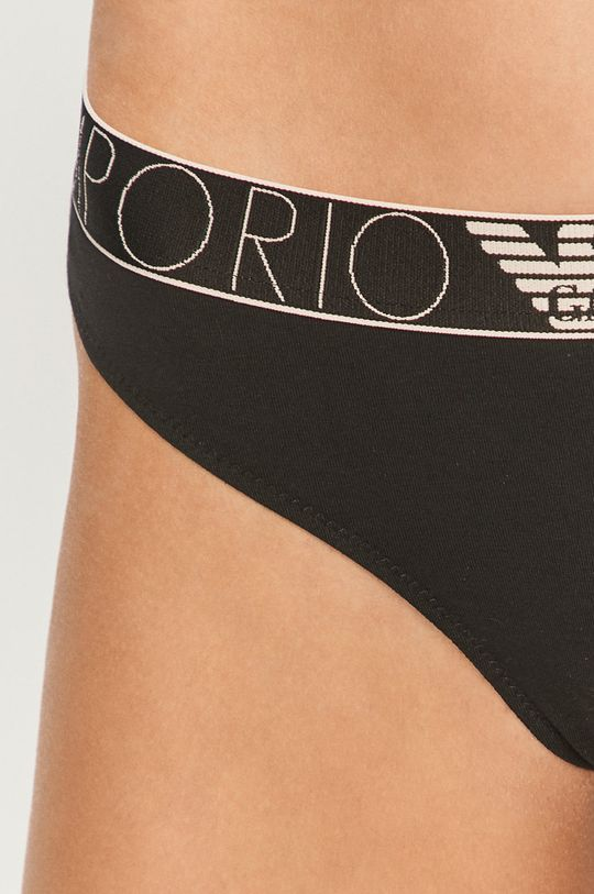 černá Emporio Armani - Kalhotky brazilky