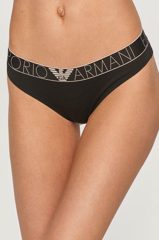 czarny Emporio Armani - Brazyliany (2-pack) Damski