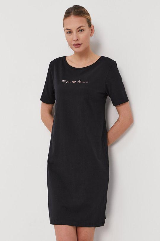čierna Emporio Armani - Nočná košeľa Dámsky