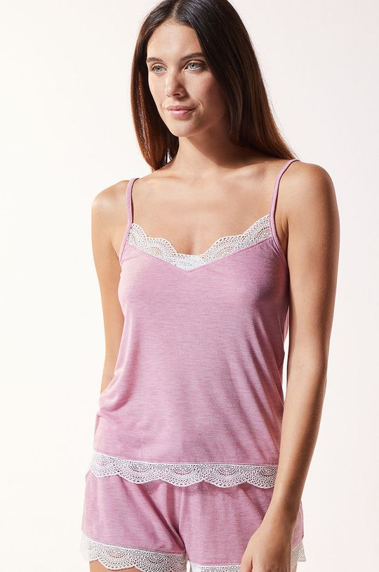 purpurowy Etam - Top piżamowy Warm Day Damski