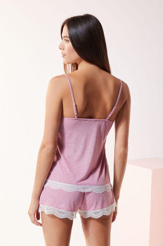 Etam - Top piżamowy Warm Day Materiał 1: 50 % Poliester, 50 % Wiskoza, Materiał 2: 12 % Elastan, 88 % Poliamid