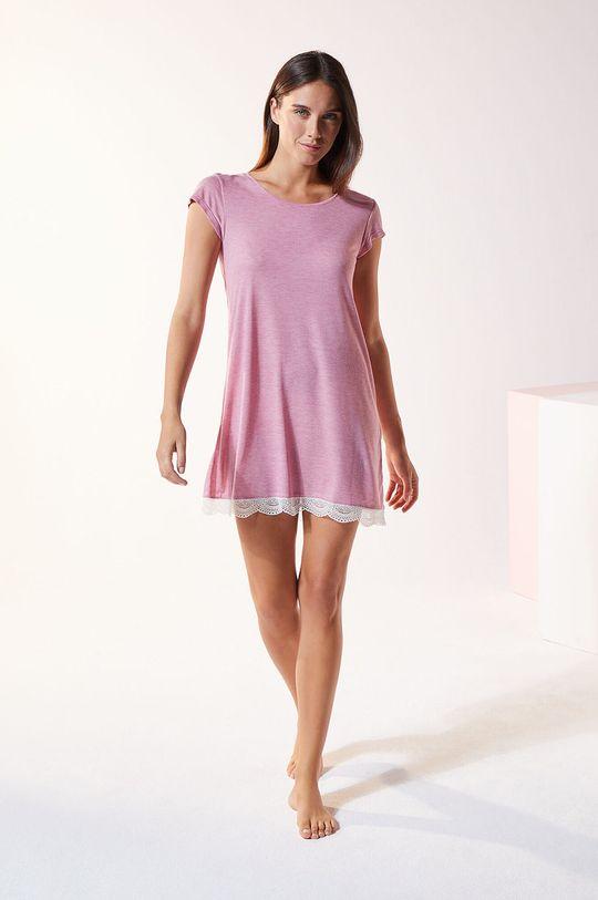 Etam - Koszula nocna Warm Day purpurowy