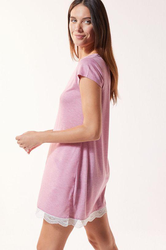 purpurowy Etam - Koszula nocna Warm Day