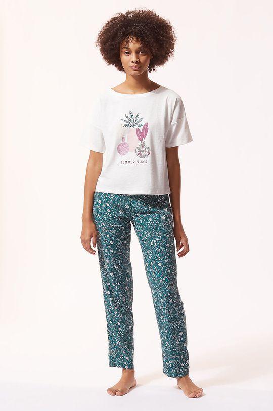 Etam - T-shirt piżamowy ABEL kremowy