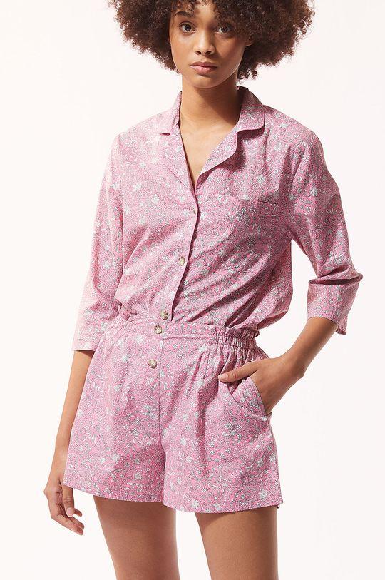 czerwony róż Etam - Szorty piżamowe LILIE