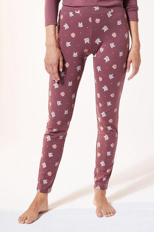 purpurowy Etam - Legginsy piżamowe Finn Damski