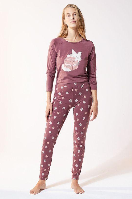Etam - Legginsy piżamowe Finn purpurowy