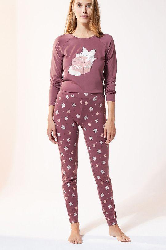 purpurowy Etam - Legginsy piżamowe Finn