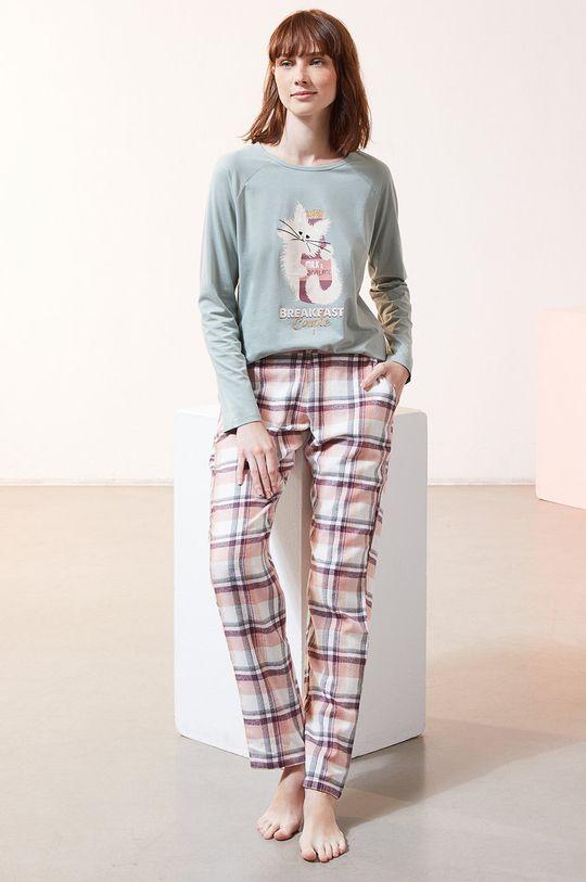 Etam - Longsleeve piżamowy FERDI cyraneczka