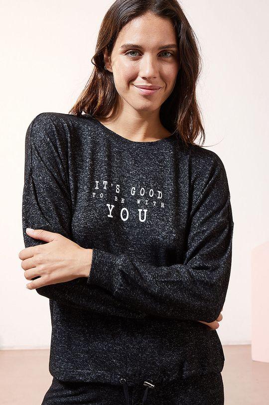 černá Etam - Pyžamové tričko s dlouhým rukávem LANCE