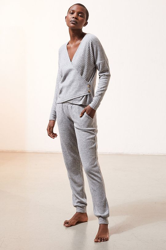 Etam - Longsleeve piżamowy LAURYL szary