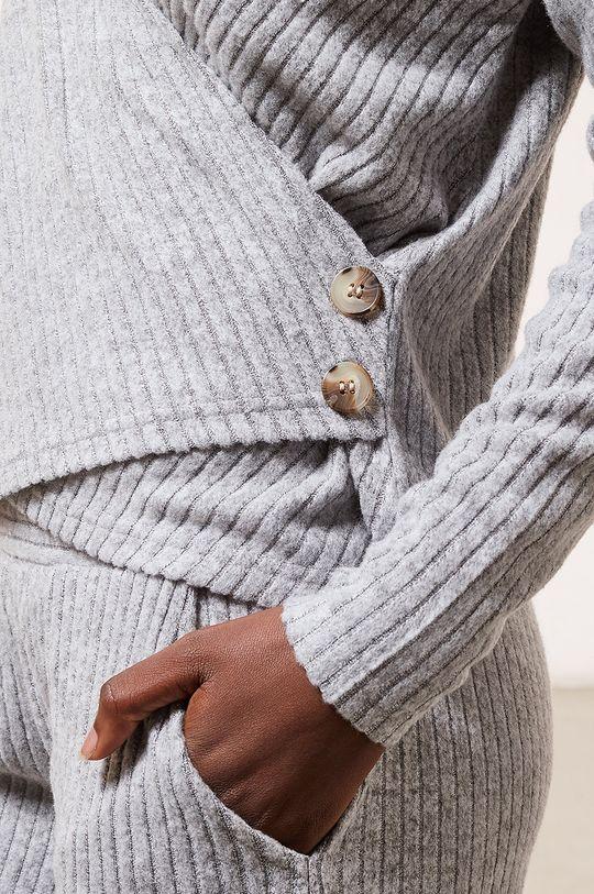 szary Etam - Longsleeve piżamowy LAURYL