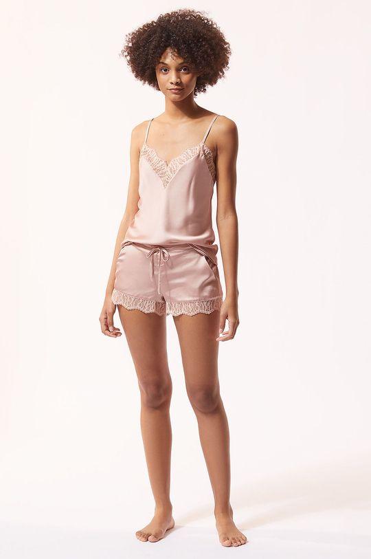 Etam - Szorty piżamowe BROOKLIN pastelowy różowy