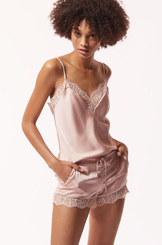pastelowy różowy Etam - Szorty piżamowe BROOKLIN