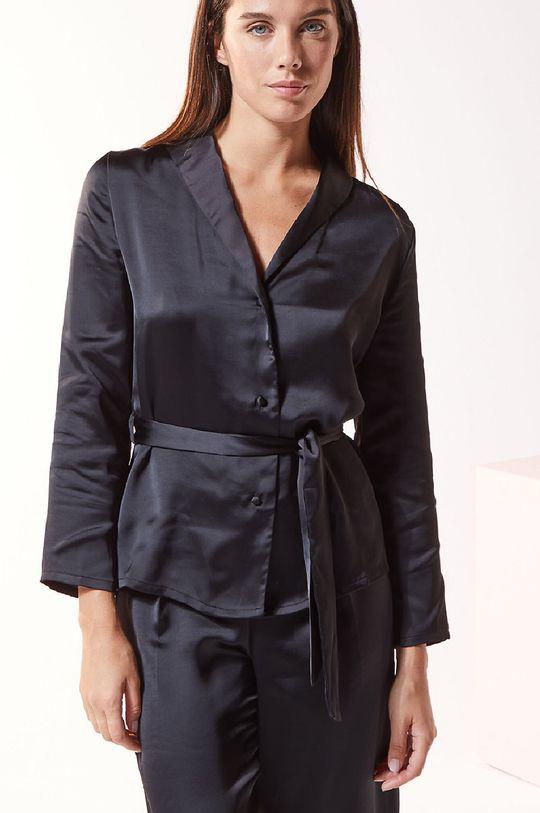 czarny Etam - Koszula piżamowa ERINA Damski