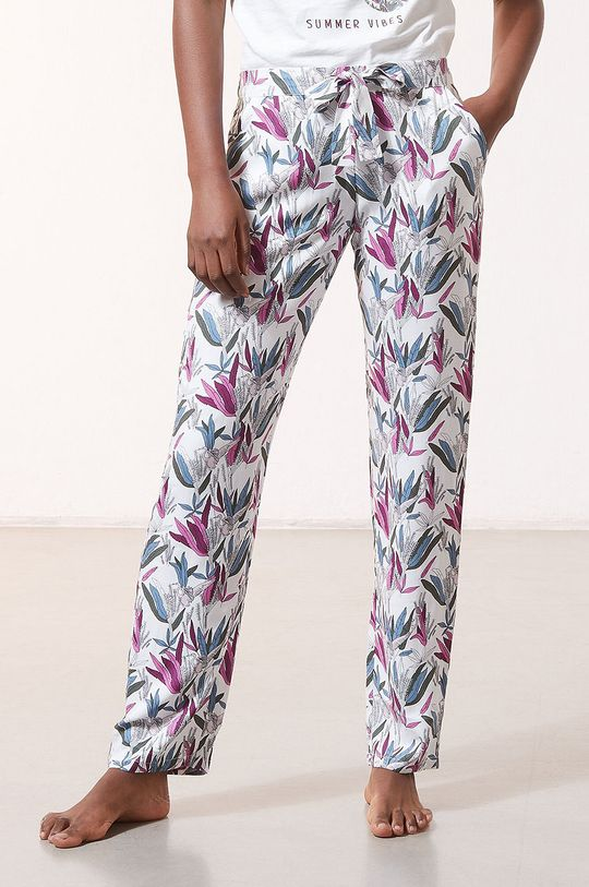 kremowy Etam - Spodnie piżamowe Myana Damski