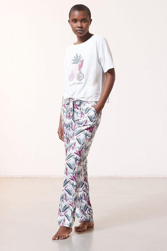Etam - Spodnie piżamowe Myana kremowy