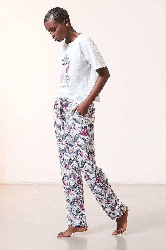 kremowy Etam - Spodnie piżamowe Myana