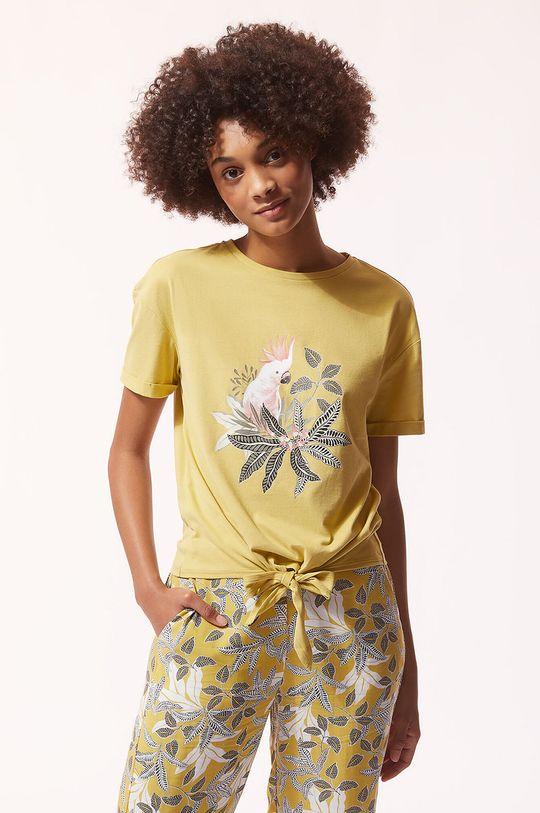 beżowy Etam - T-shirt piżamowy IRMA Damski