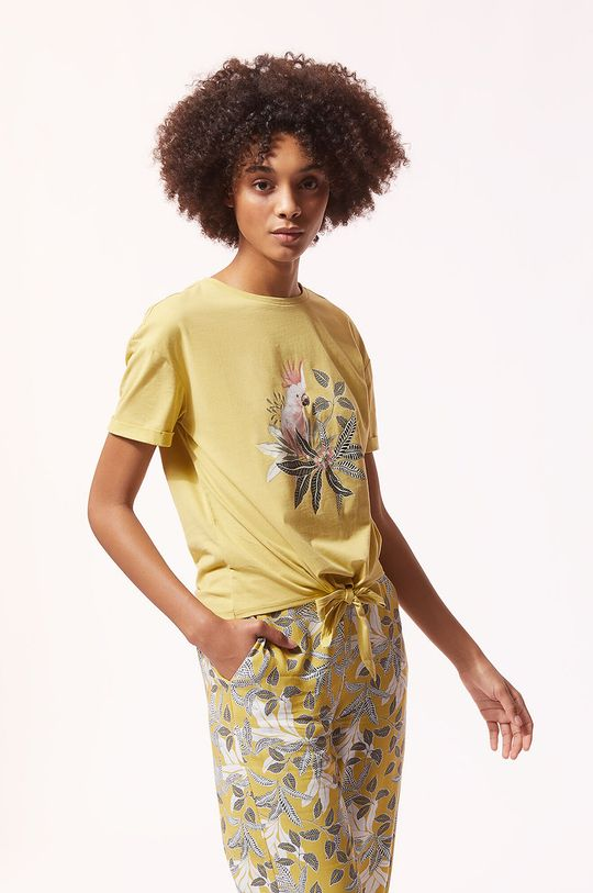 beżowy Etam - T-shirt piżamowy IRMA