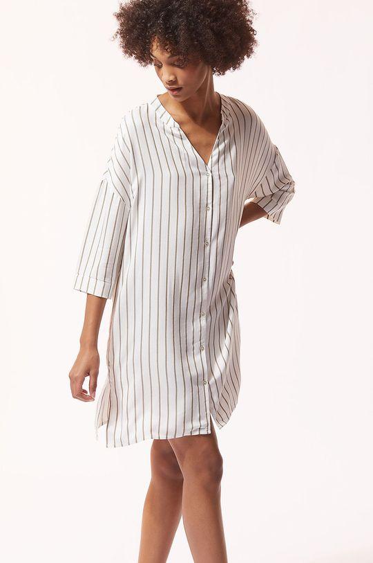 kremowy Etam - Koszula nocna IDA