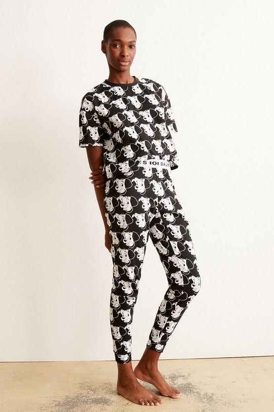 černá Undiz - Pyžamové tričko BICODALMIZ Dámský