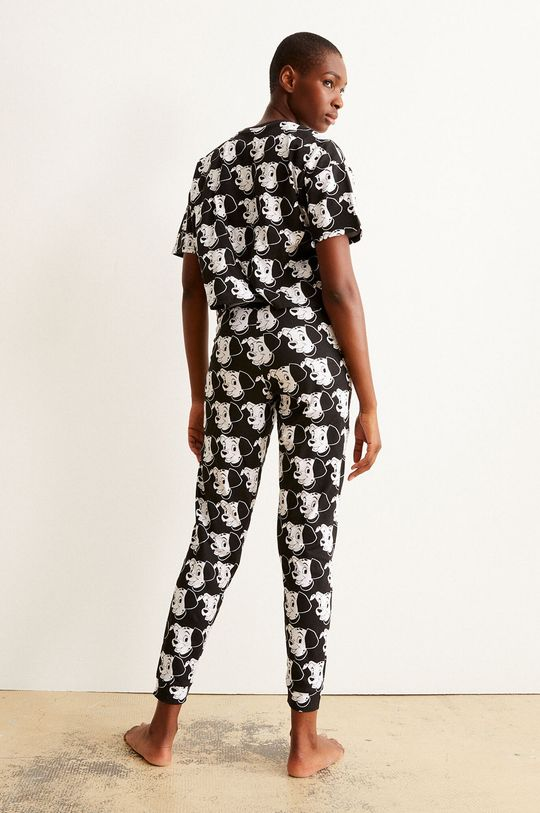 Undiz - Pyžamové kalhoty BICODALMIZ černá