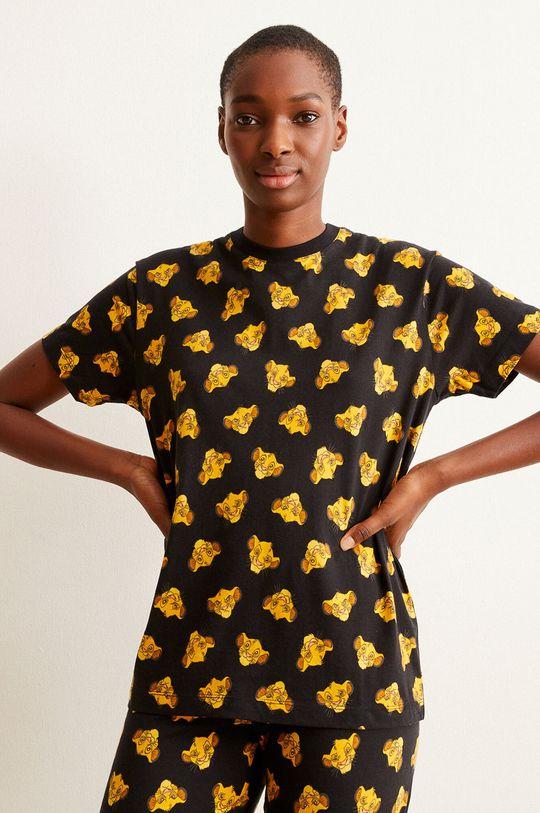 černá Undiz - Pyžamové tričko HAPPYSIMBIZ Dámský