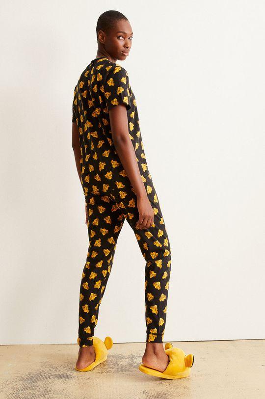 Undiz - Pyžamové tričko HAPPYSIMBIZ černá
