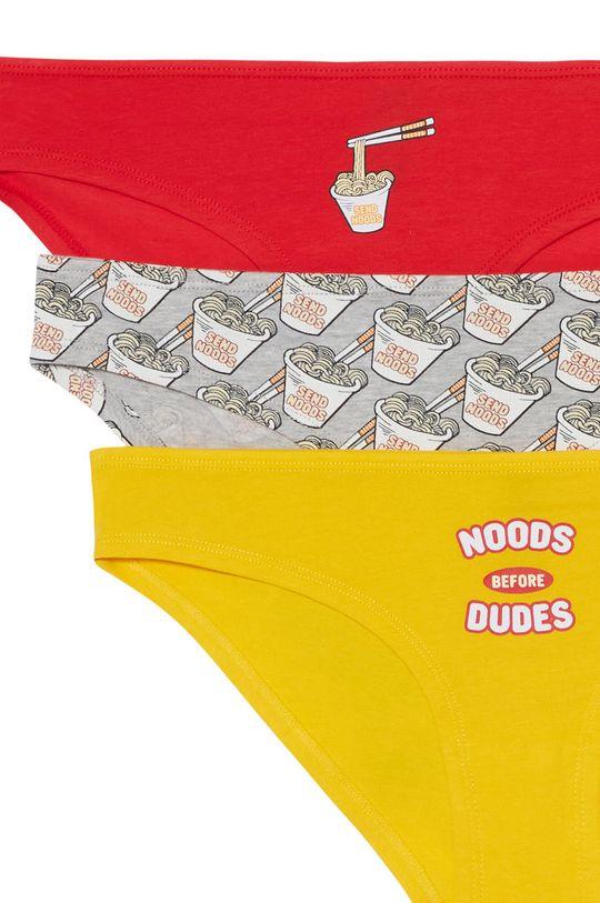 Undiz - Kalhotky BOTTLIZ NOODUDIZ (3-PACK) žlutá