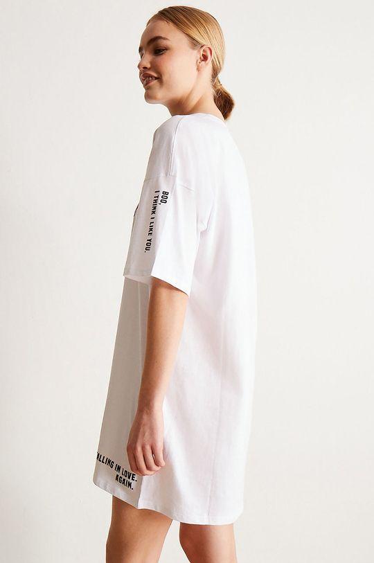 Undiz - Noční košilka LOVEGRAFFIZ bílá