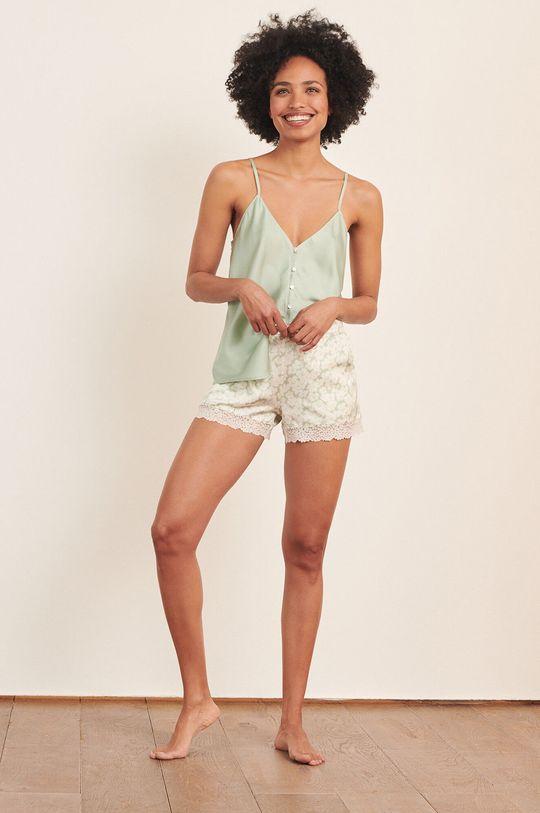 Etam - Top piżamowy Naim jasny zielony