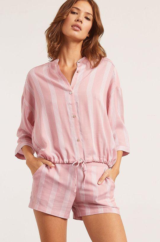ružovo-červená Etam - Pyžamová košeľa Anil Dámsky