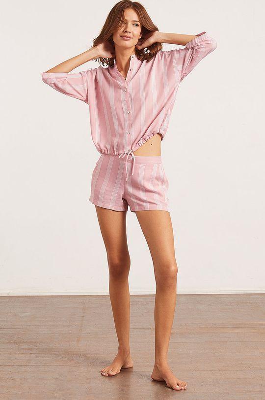 Etam - Pyžamová košeľa Anil ružovo-červená