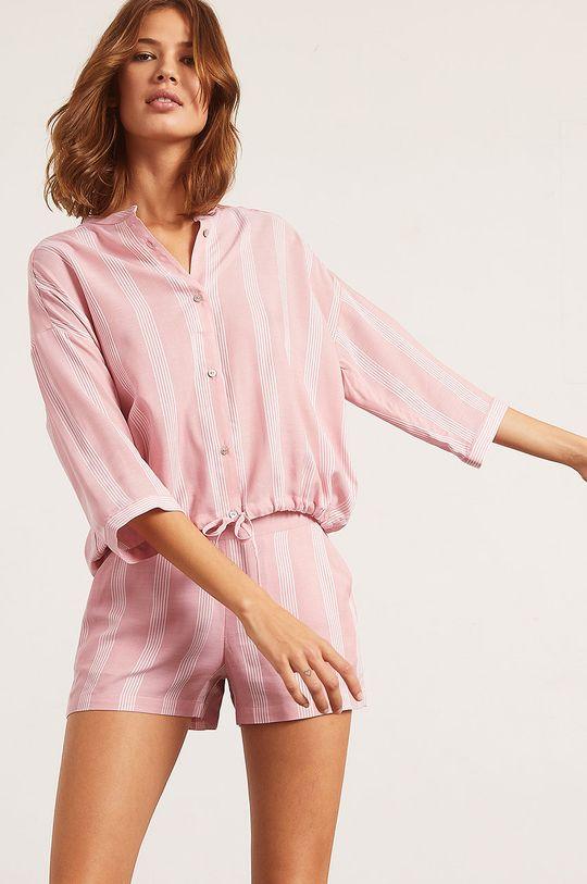 ružovo-červená Etam - Pyžamová košeľa Anil
