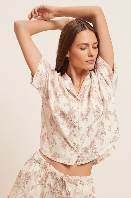 czerwony róż Etam - Koszula piżamowa Ally Damski