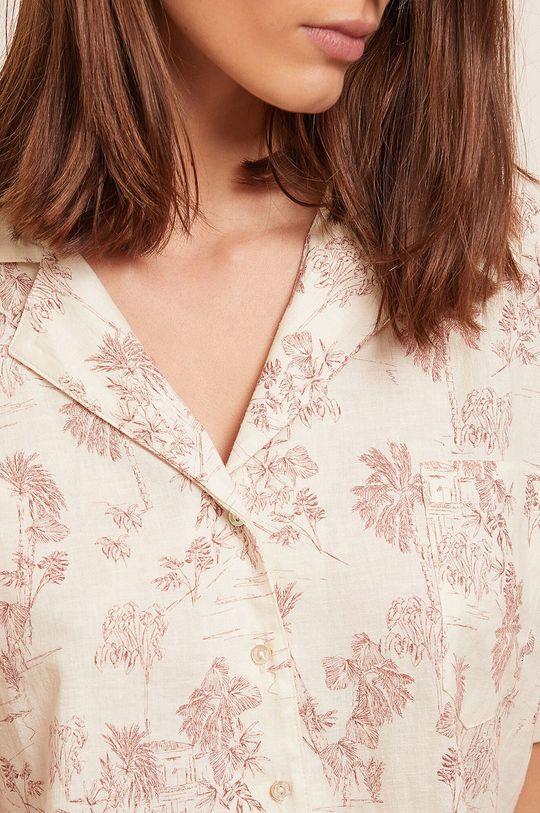 czerwony róż Etam - Koszula piżamowa Ally