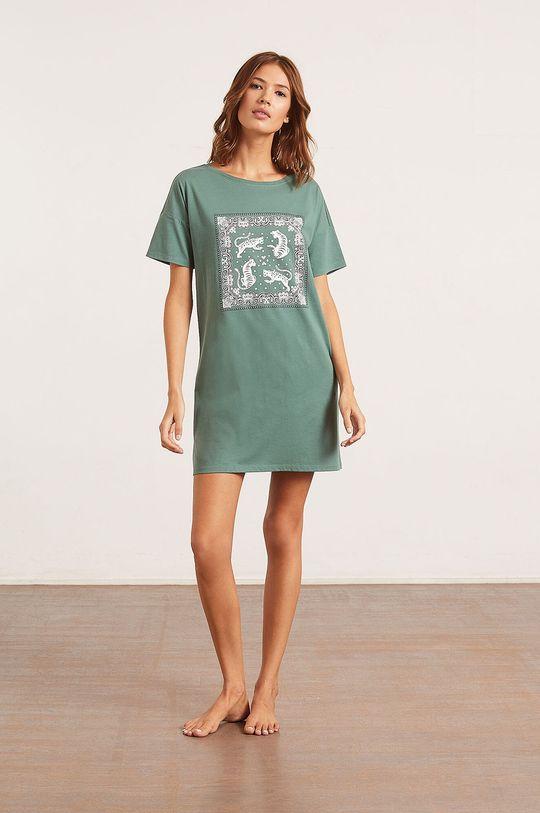 Etam - Nočná košeľa Banna zelená