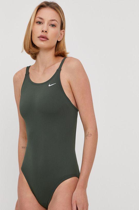ciemny zielony Nike - Strój kąpielowy Damski